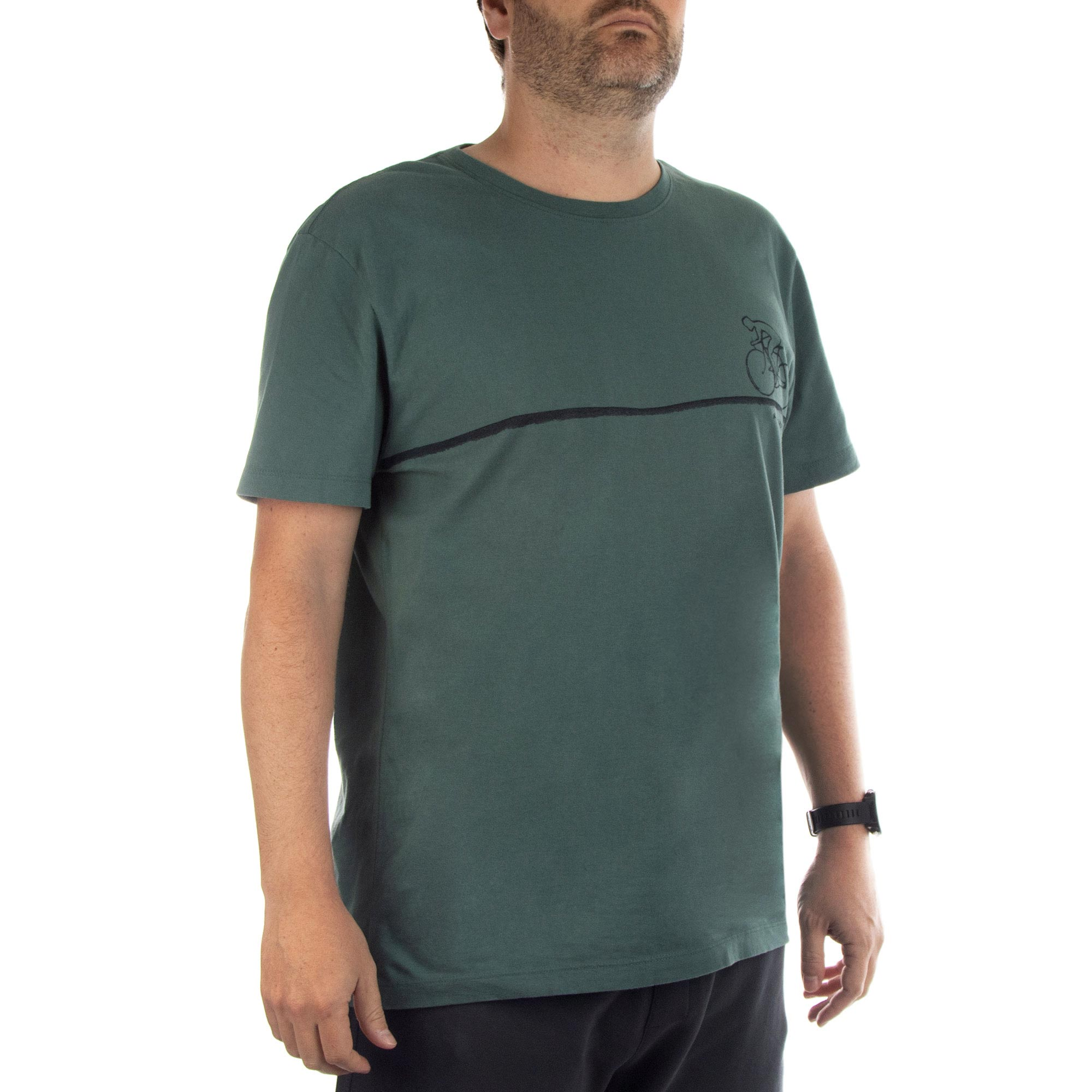 Richards Camiseta Malha Reativo Manga Curta Masculino Verde