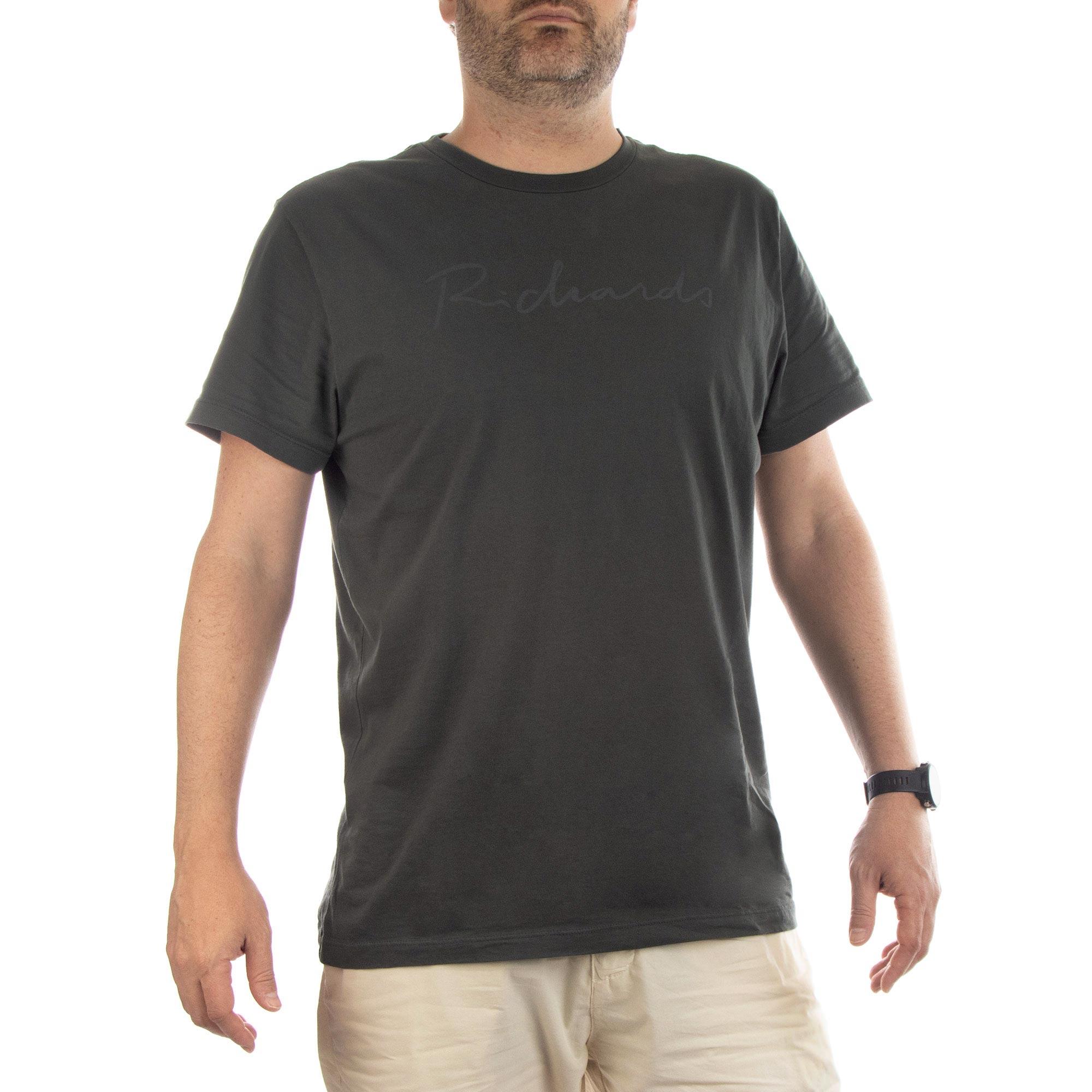 Richards Camiseta Manuscrito Richards Manga Curta Masculino Verde Militar