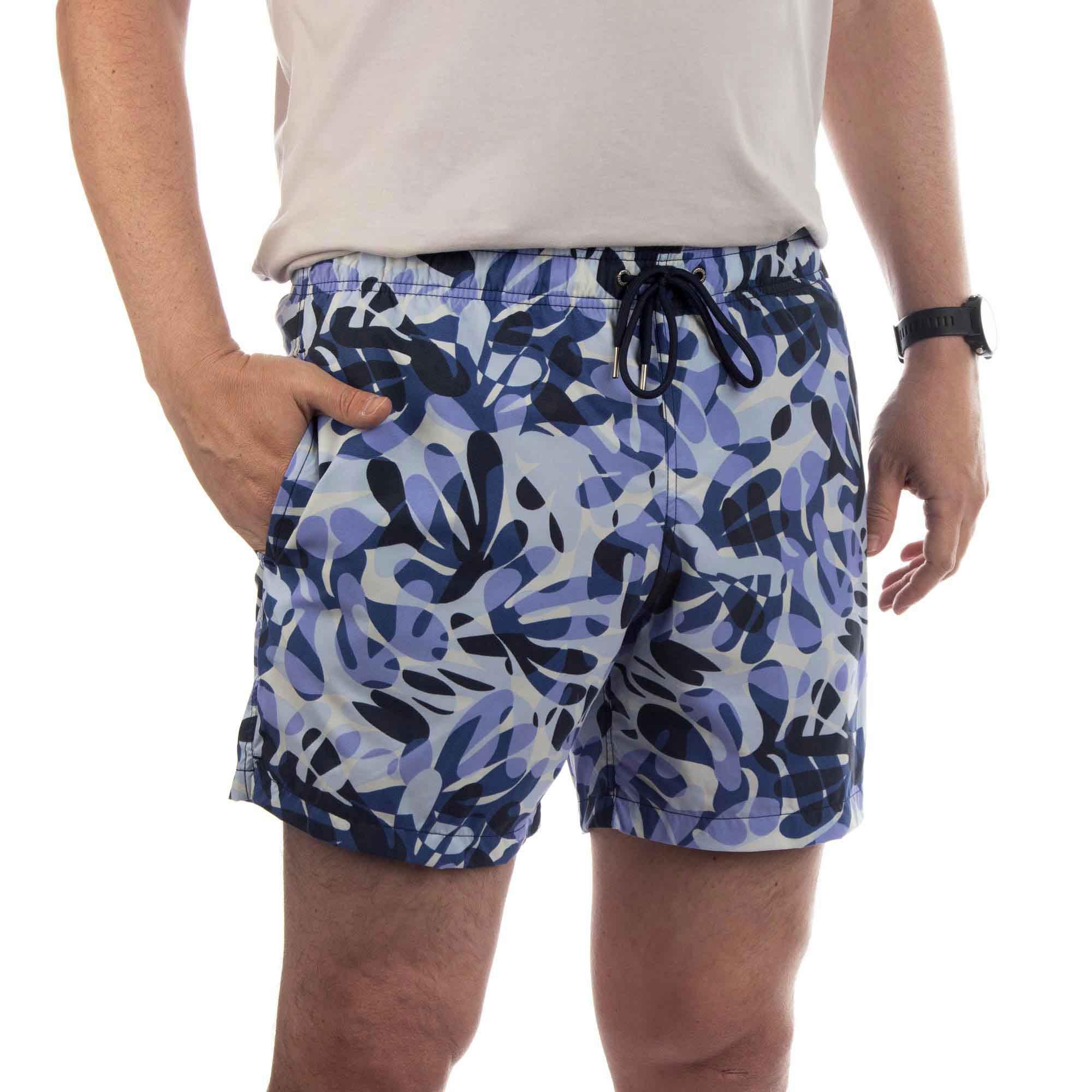 Richards Shorts Printed Beach Masculino Estampa Algas
