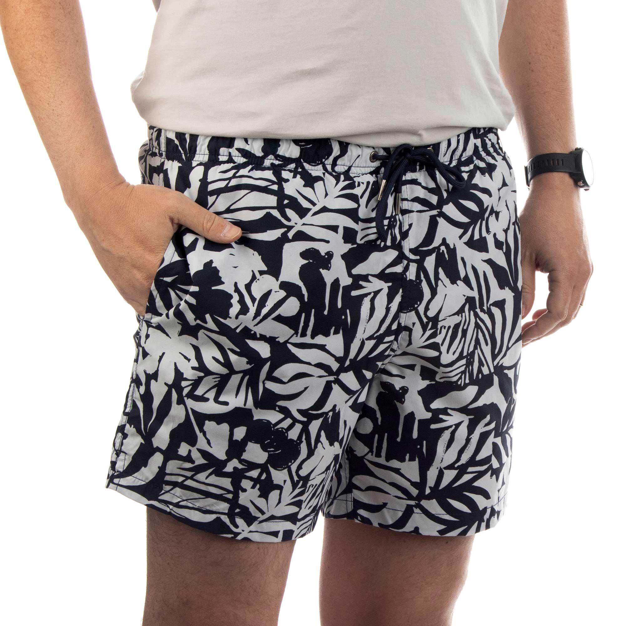 Richards Shorts Printed Beach Masculino Estampa Folhas
