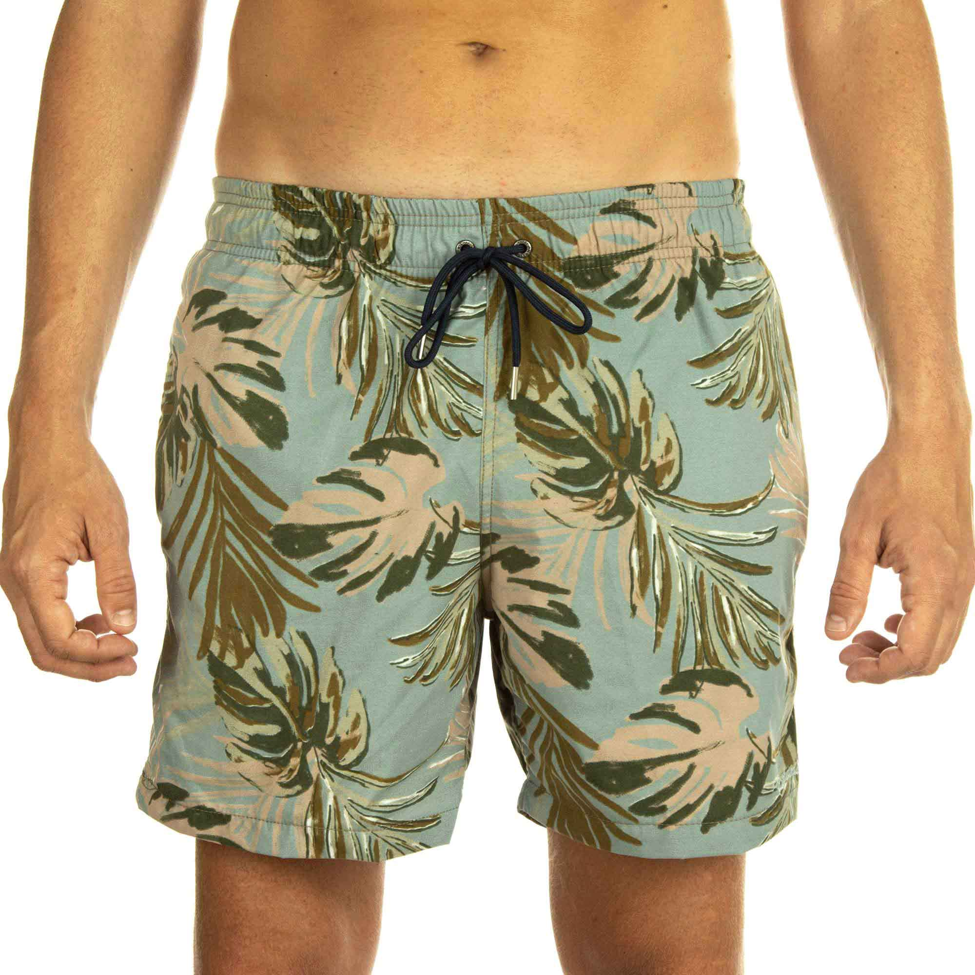 Richards Short Printed Beach Nendo Masculino Folhas