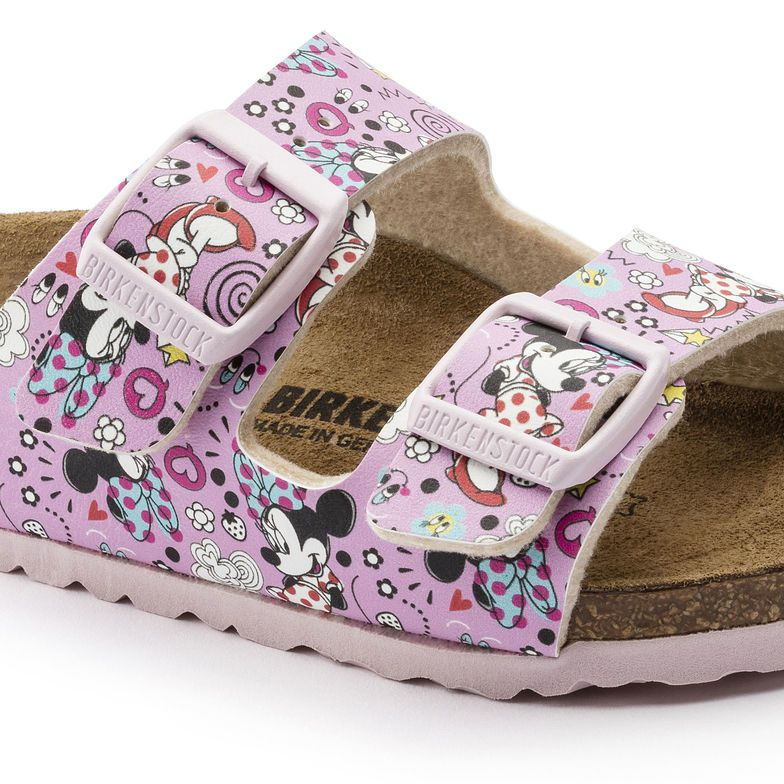 Birkenstock Sandália Arizona Kids BF Lovely Minnie Rose Narrow