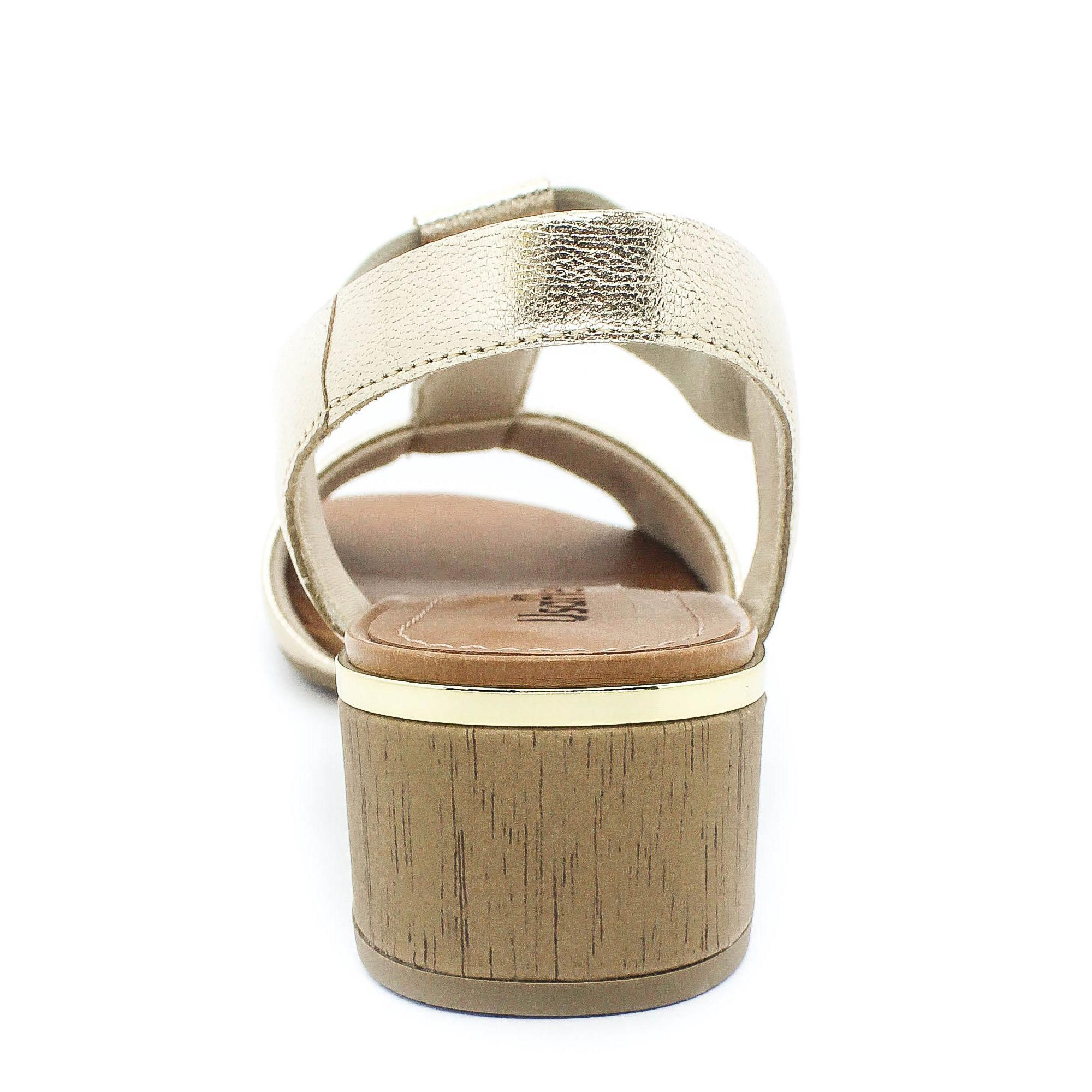 Sandália Usaflex Super Conforto Prata Coleção Verão 2019