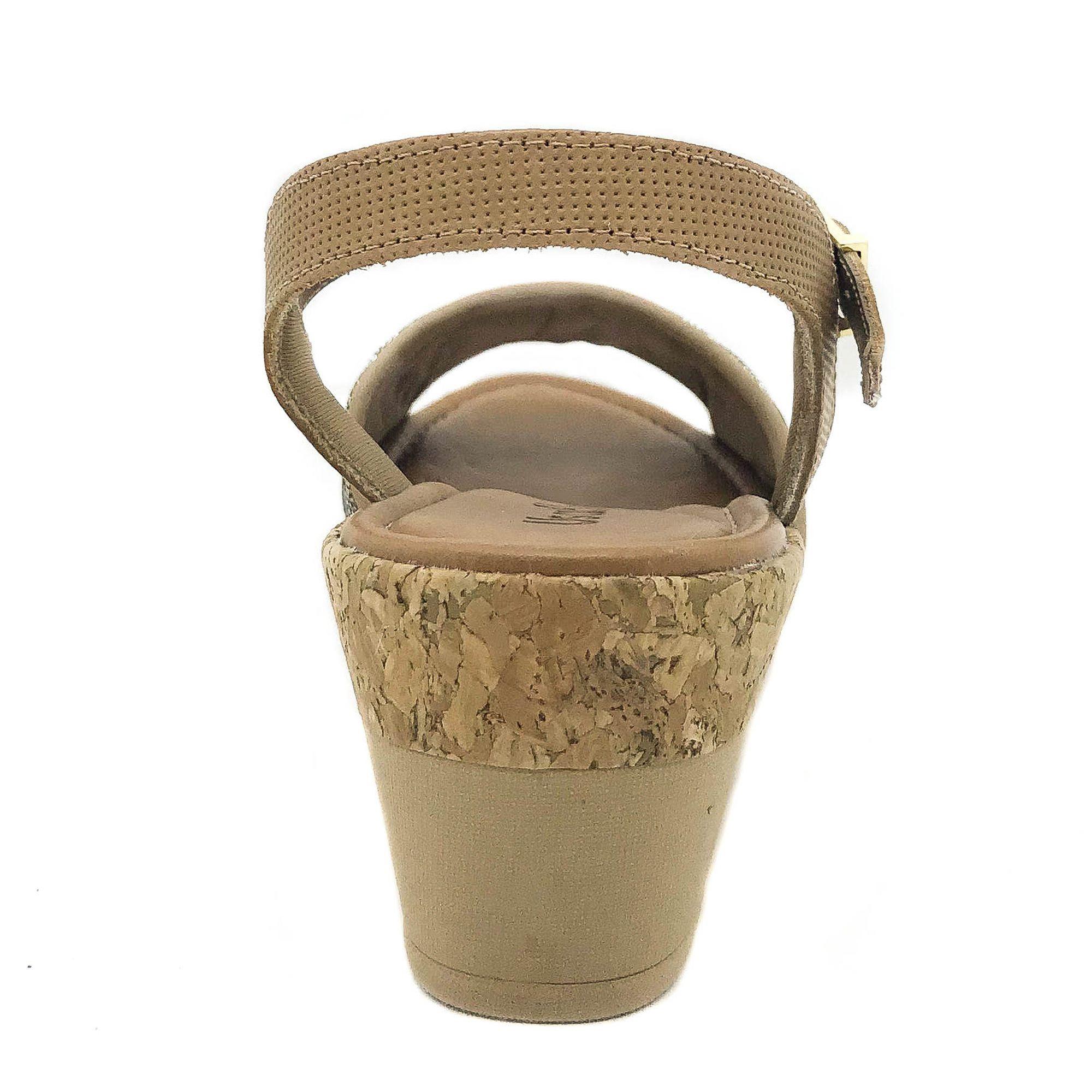 Usaflex Sandália Confort Tecido Lurex Caramelo
