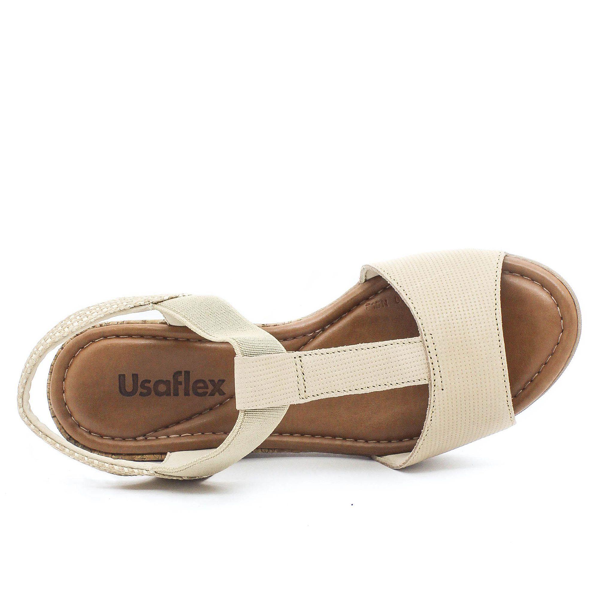 Usaflex Sandália Confort Bege