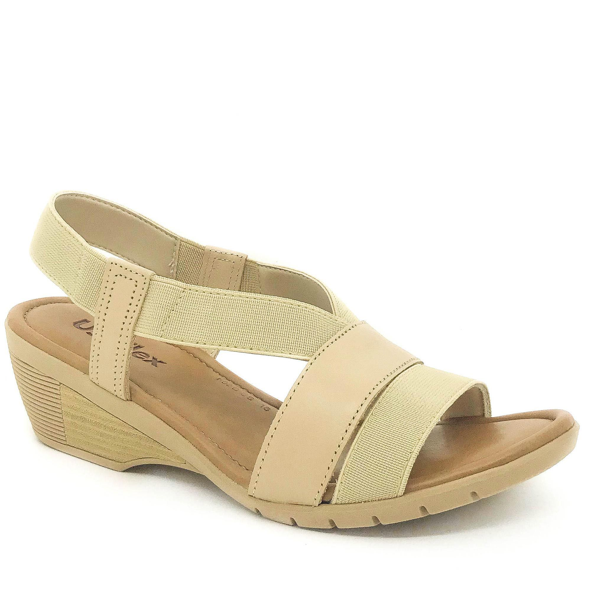 Usaflex Sandália Confort Tiras Elásticas