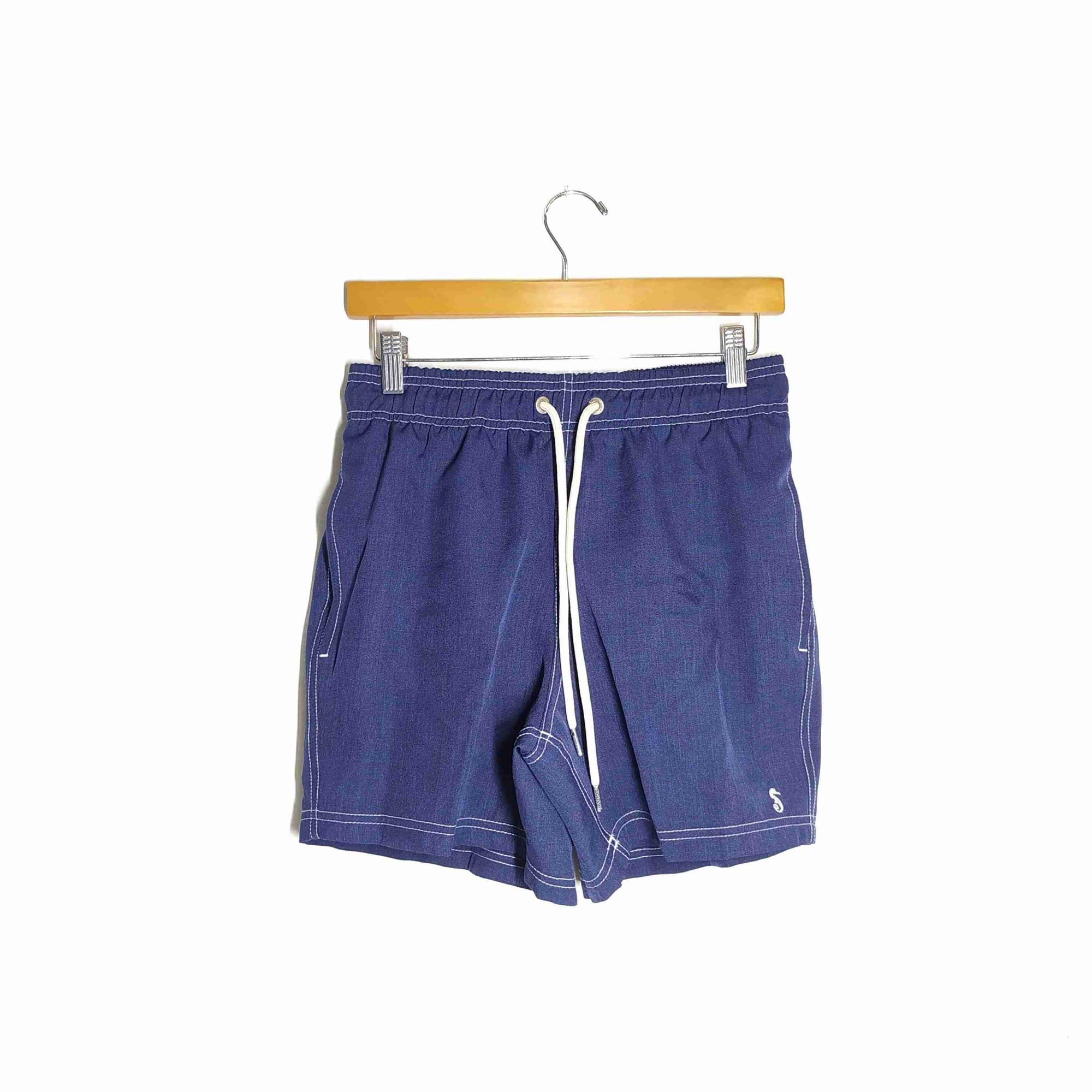 Shorts Co Shorts Oxford Azul Marinho Adulto