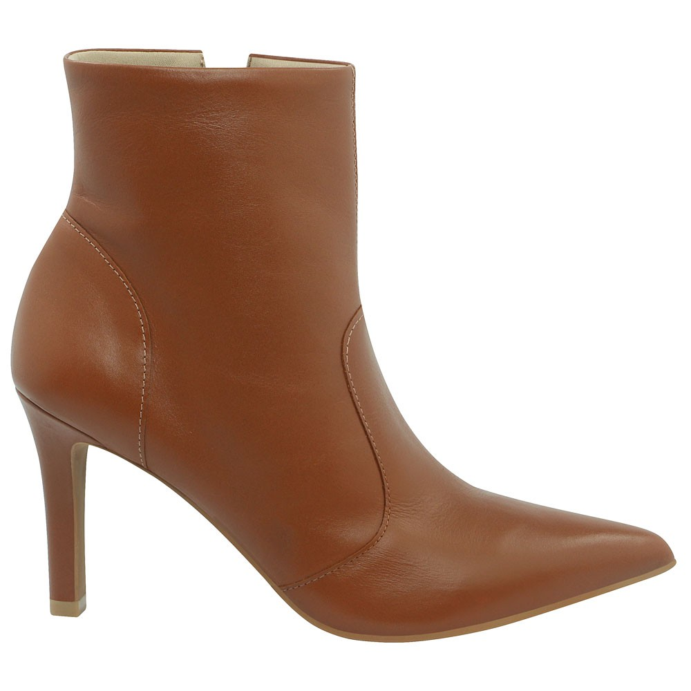 Usaflex Bota Ankle Boot Salto Alto Extra Conforto Anatômica AD0608