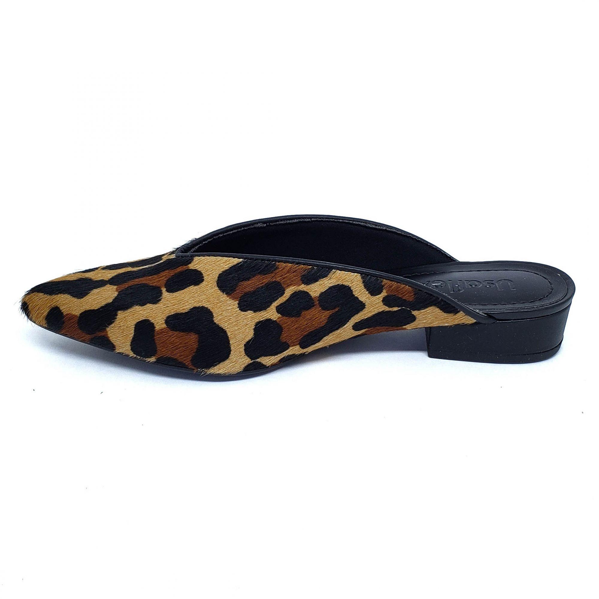 Usaflex Mule Leopardo Extra Conforto Anatômico AB6609