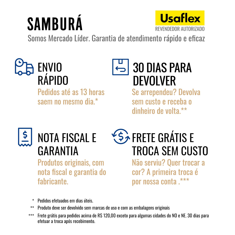 Usaflex Sandália Confort Verona Preto