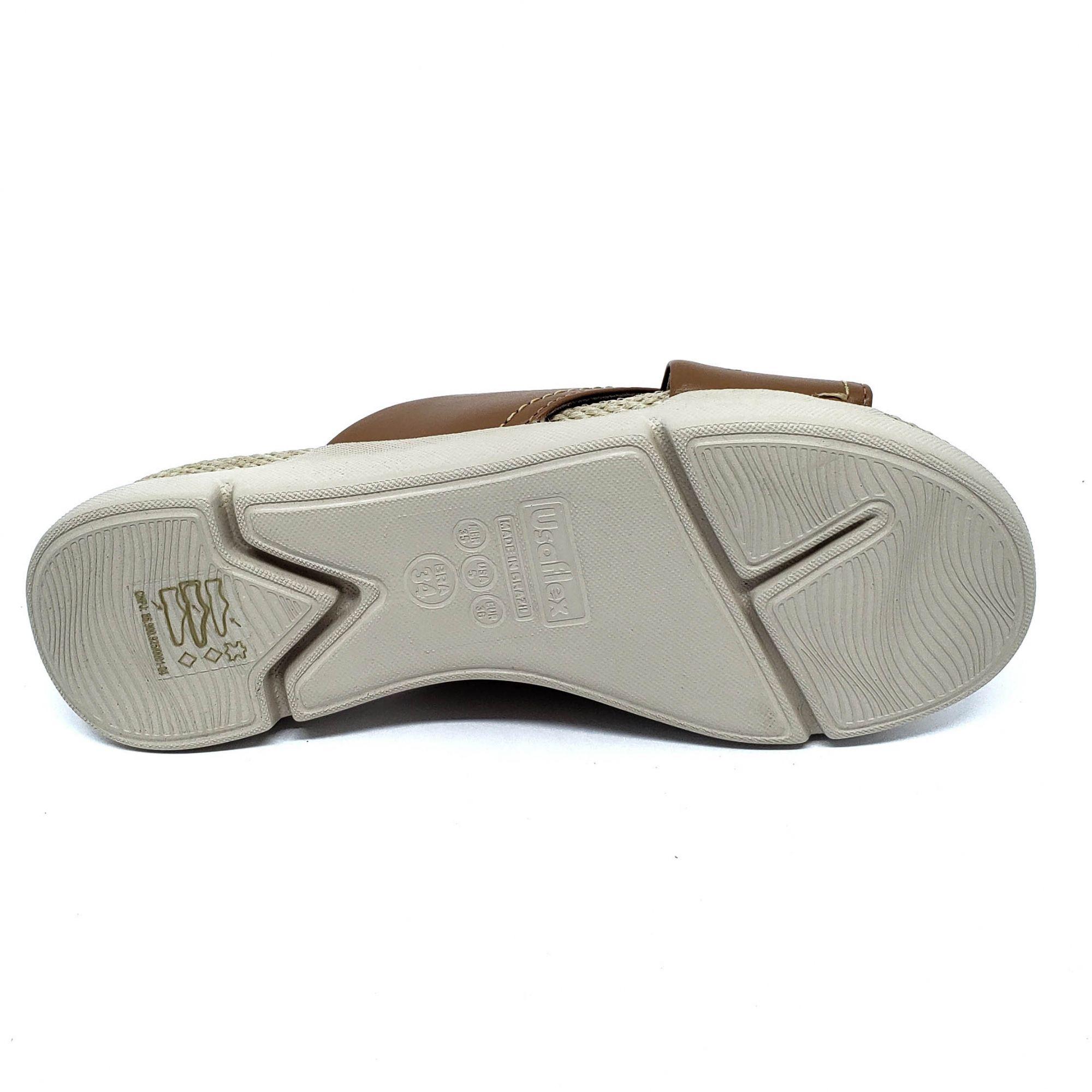 Usaflex Tamanco Detalhe em Corda Extra Conforto AA3203