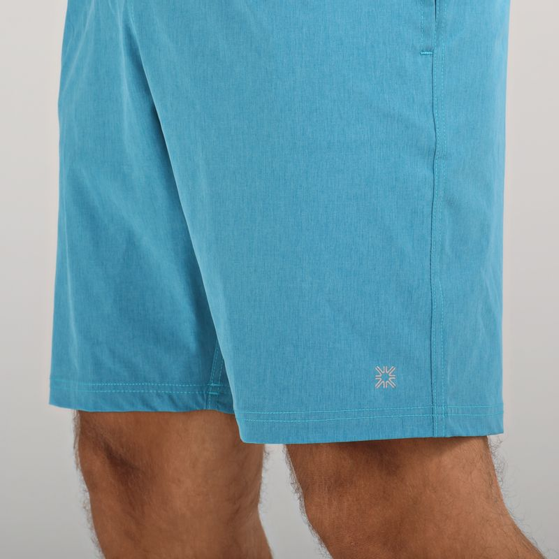 UV LINE Bermuda New Fit Mescla Masculino Azul Petróleo Proteção Solar
