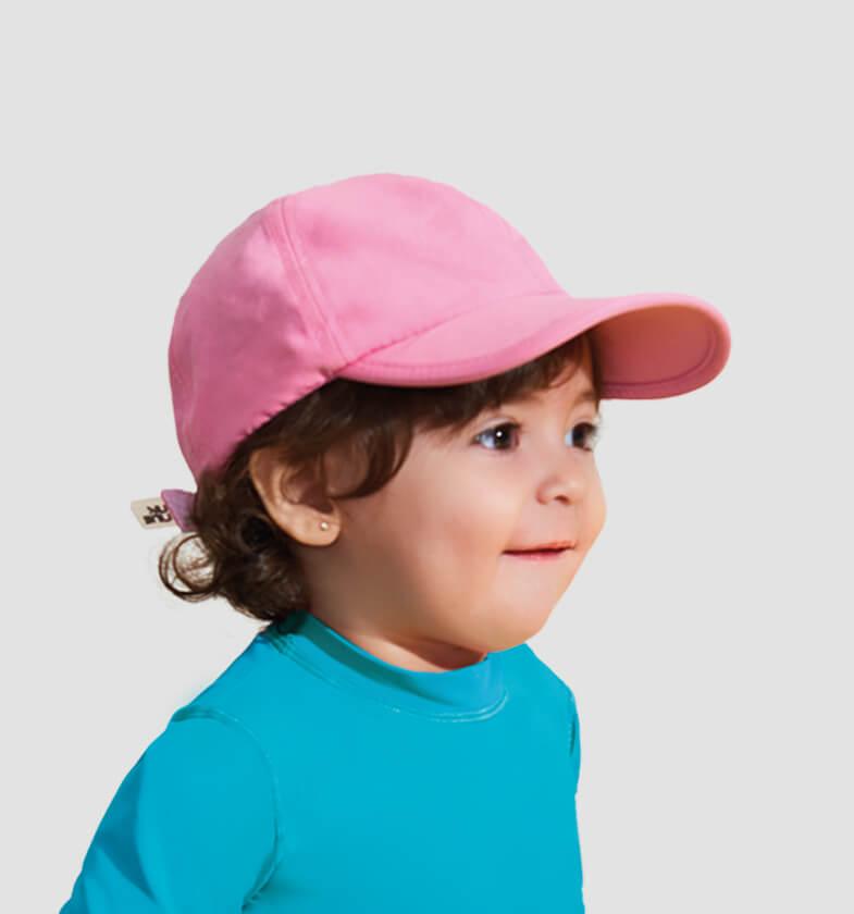 UV LINE Boné Baby Colors Infantil Rosa Proteção Solar