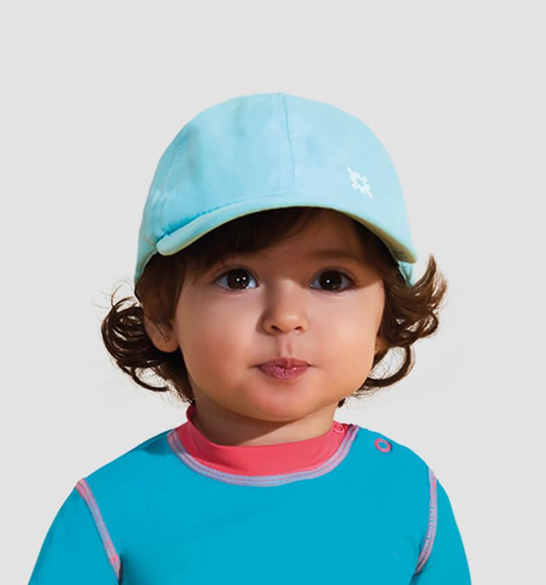UV LINE Boné Baby Colors Infantil Verde Água Proteção Solar