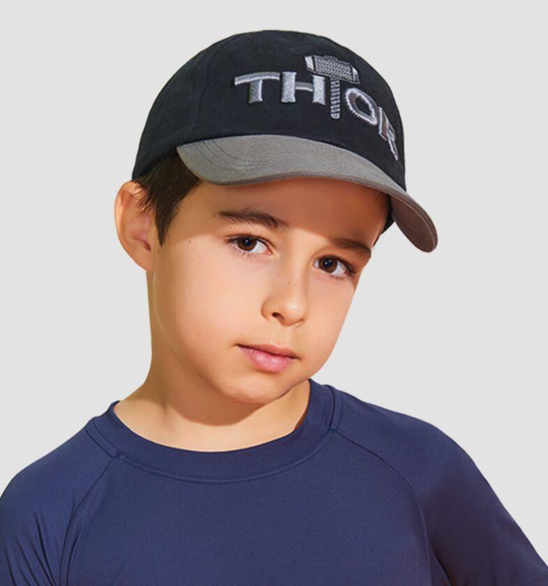UV LINE Boné Infantil Thor Cinza/Preto Proteção Solar