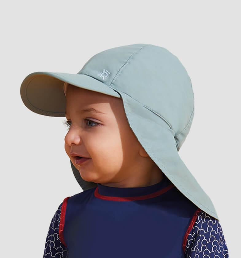 UV LINE Boné Legionário Basic Infantil Cinza Proteção Solar