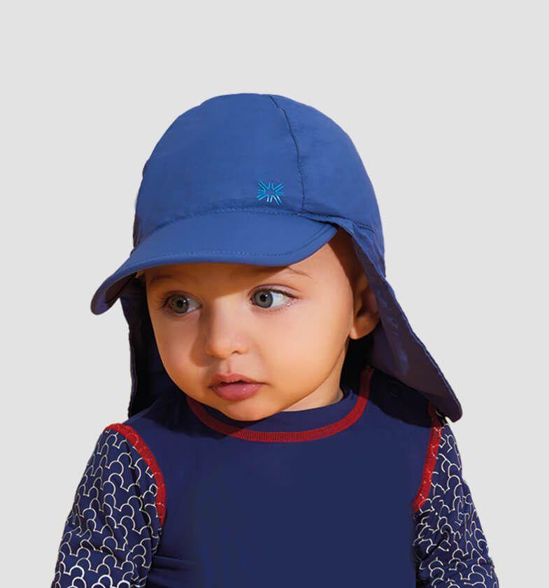 UV LINE Boné Legionário Basic Infantil Marinho Proteção Solar