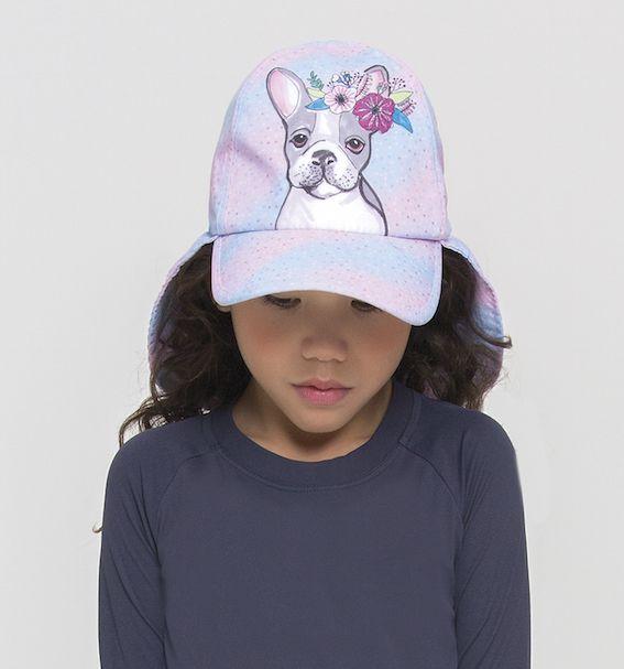 UV LINE Boné Legionário Infantil Dog Flor Proteção Solar
