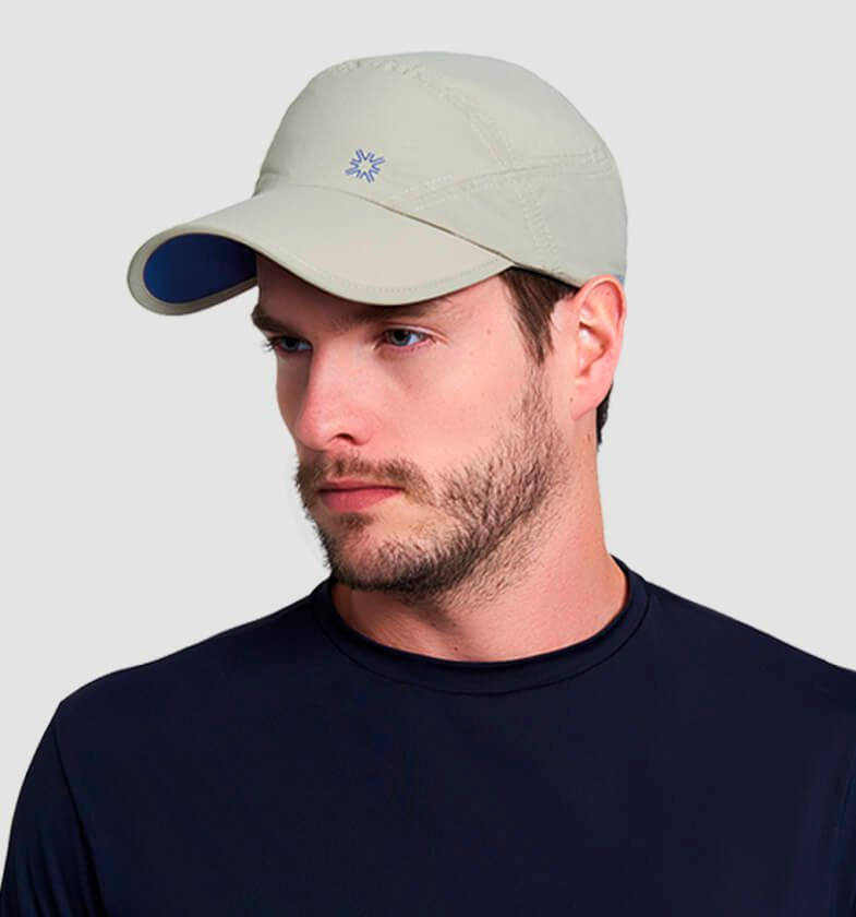 UV LINE Boné New Fit Masculino Kaki/Azul Proteção Solar