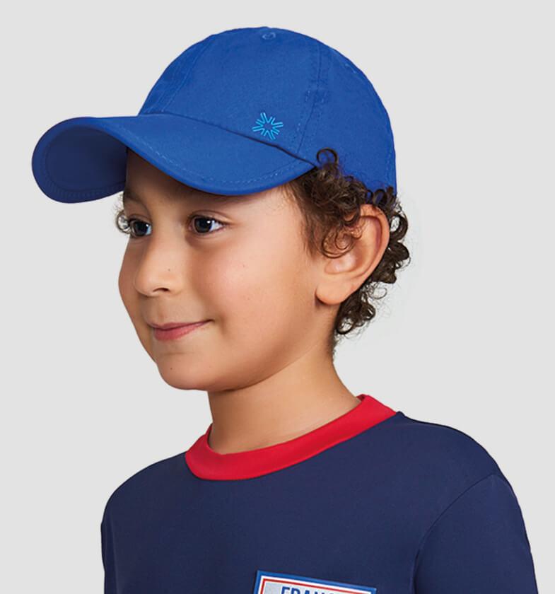 UV LINE Boné Teens Colors Infantil Azul Bic Proteção Solar