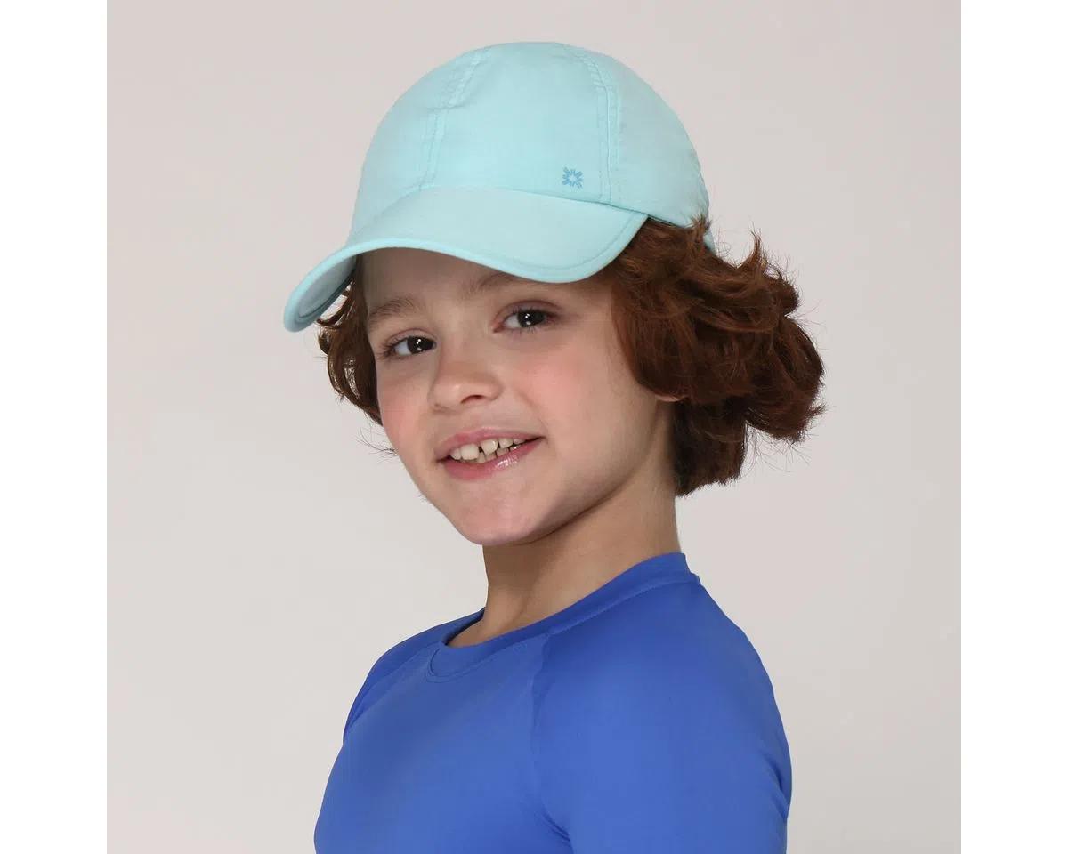 UV LINE Boné Teens Colors Infantil Verde Água Proteção Solar