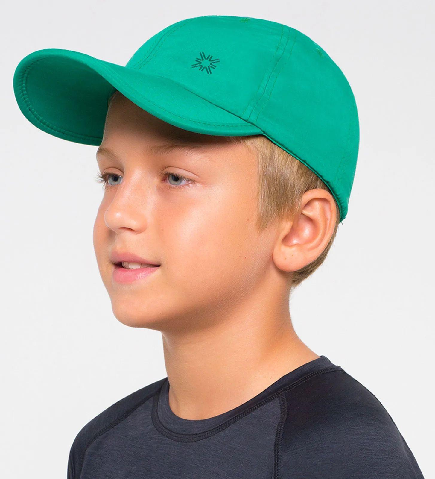 UV LINE Boné Teens Colors Infantil Verde Folha Proteção Solar