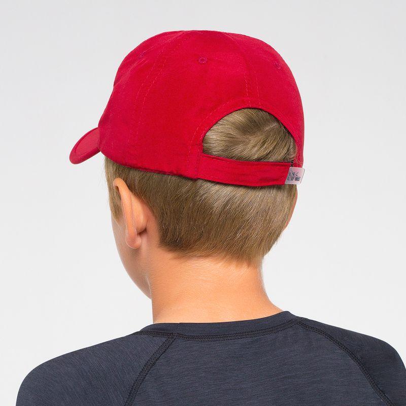 UV LINE Boné Teens Colors Infantil Vermelho Proteção Solar