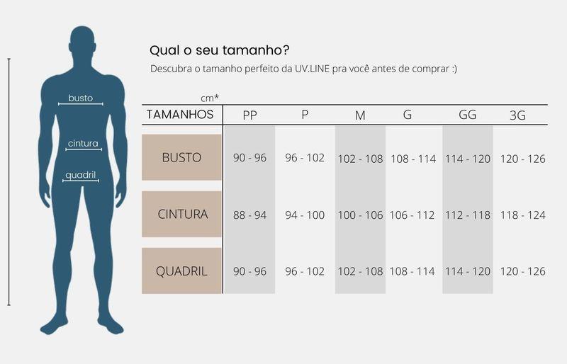UV LINE Calça Chelsea Mescla Masculino Chumbo Proteção Solar