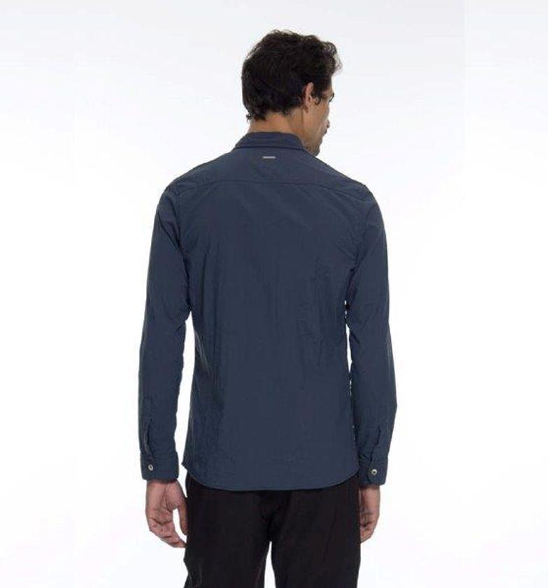 UV LINE FALTA MEDIDAS Camisa Georgia Masculino Manga Longa Chumbo Proteção Solar