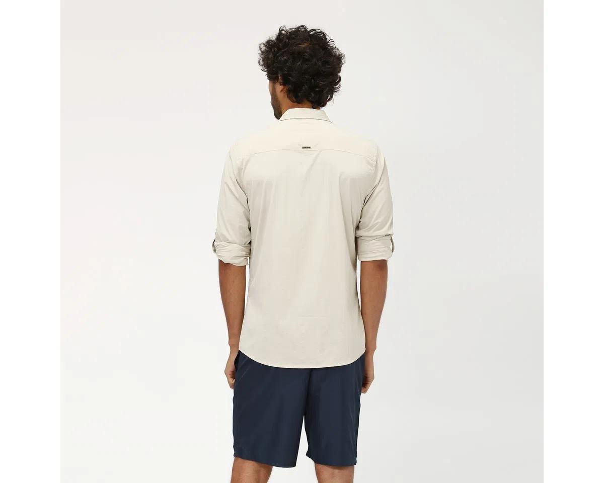 UV LINE Camisa Nepal Manga Longa Masculino Areia Proteção Solar