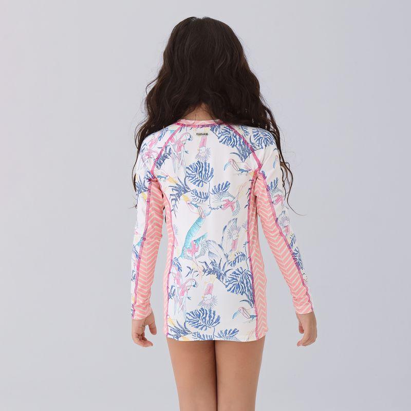 UV LINE Camiseta Acqua Cacatua Ml Infantil V21 Proteção Solar