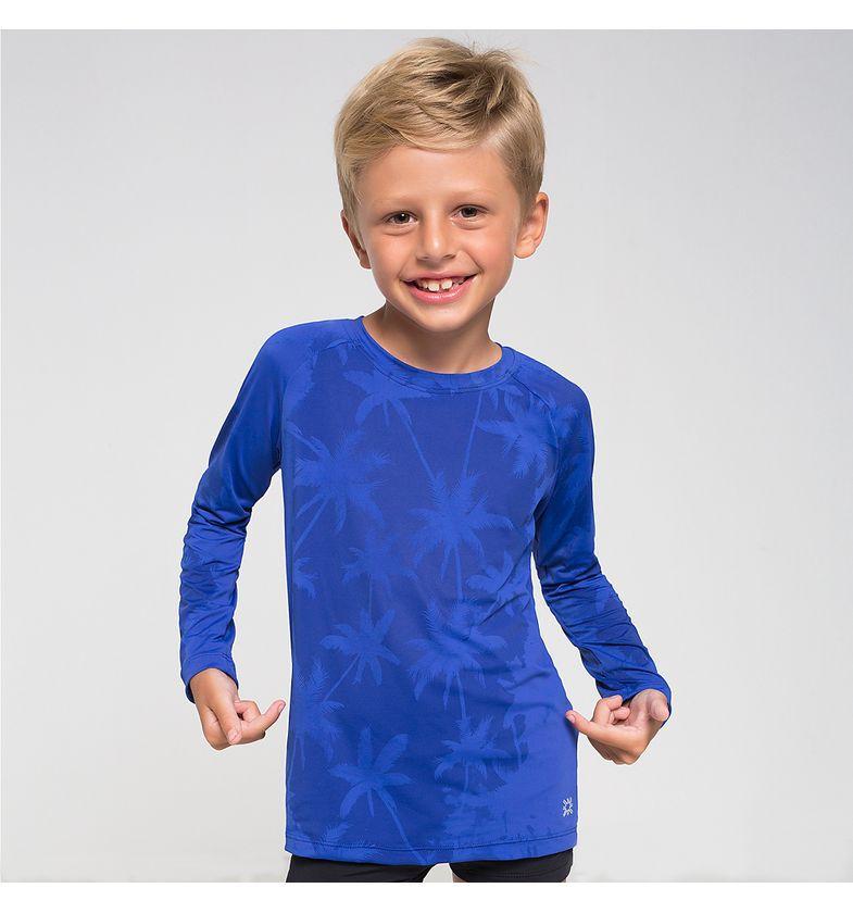 UV LINE Camiseta Acqua Magic Infantil Manga Longa Proteção Solar
