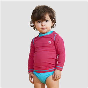 UV LINE Camiseta Baby Nina Manga Longa Proteção Solar