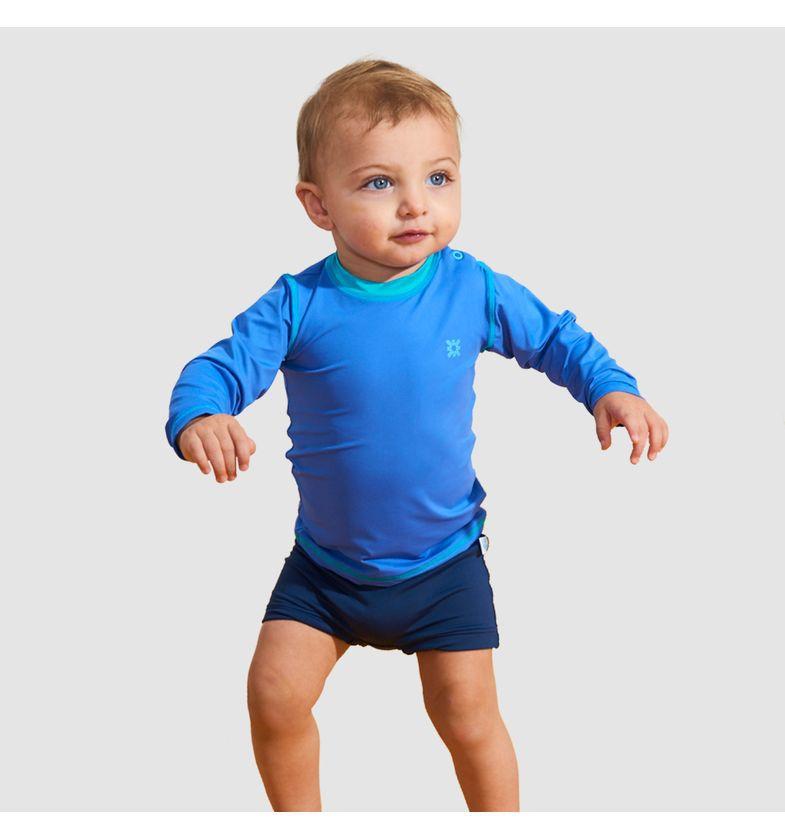 UV LINE Camiseta Baby Nino Manga Longa Proteção Solar