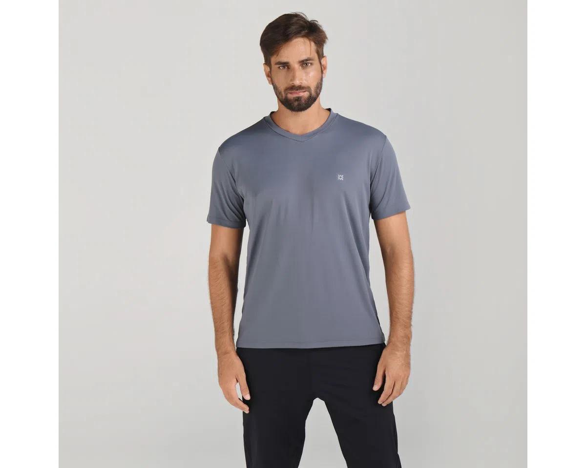 UV LINE Camiseta Fit Sports Manga Curta Masculino Chumbo Proteção Solar