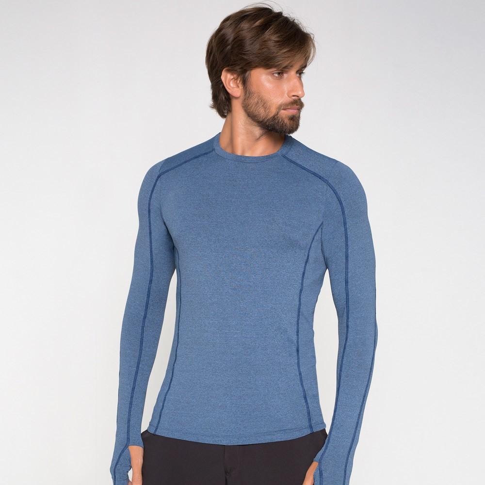 UV LINE Camiseta Flex Manga Longa Masculina Azul Índigo Proteção Solar