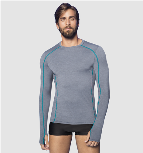UV LINE Camiseta Flex Manga Longa Masculina Mescla Proteção Solar