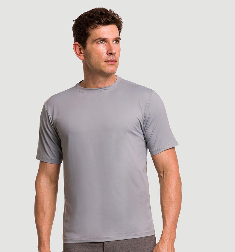 UV LINE Camiseta Masculina Manga Curta Uvpro Proteção Solar