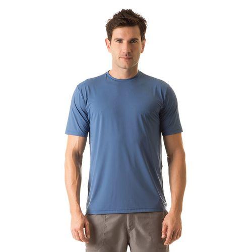 UV LINE Camiseta Masculina Manga Curta Uvpro Azul Marinho Proteção Solar