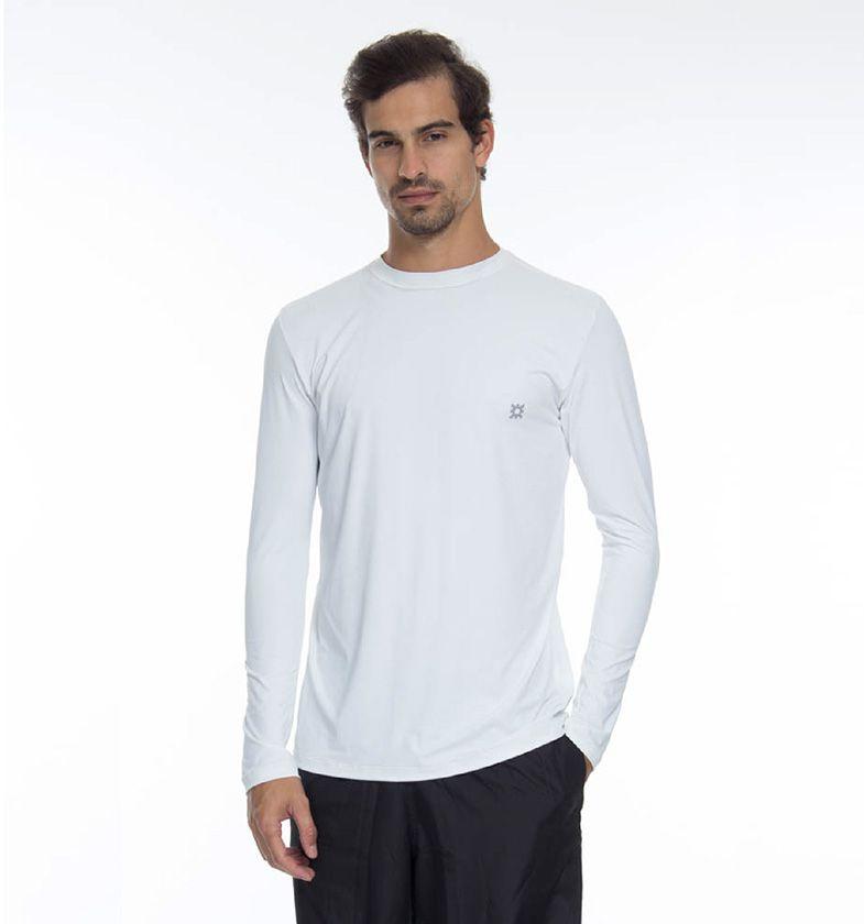 UV LINE Camiseta Masculina Repelente Manga Longa Proteção Solar