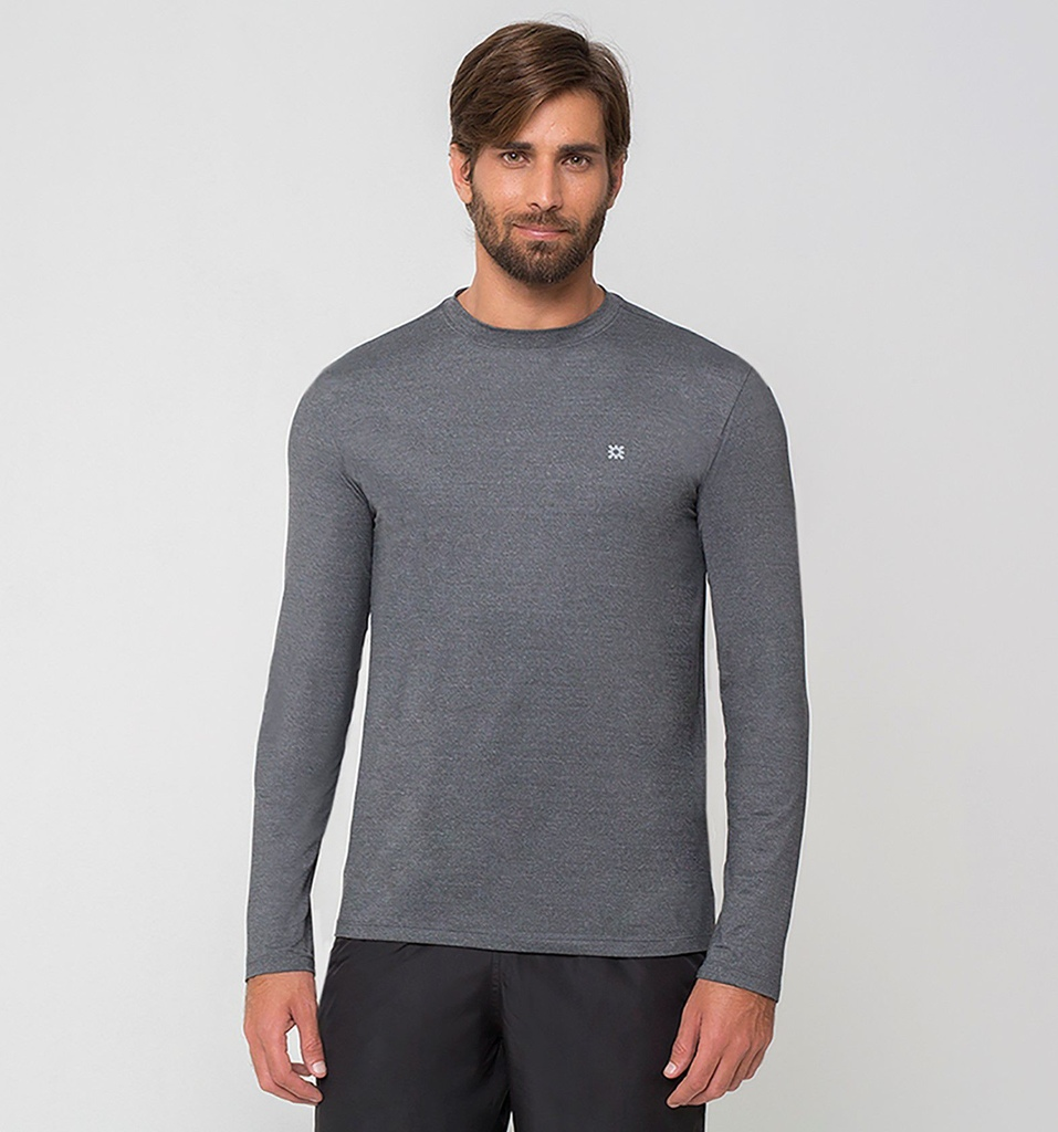 UV LINE Camiseta Masculina Sport Fit Manga Longa Proteção Solar