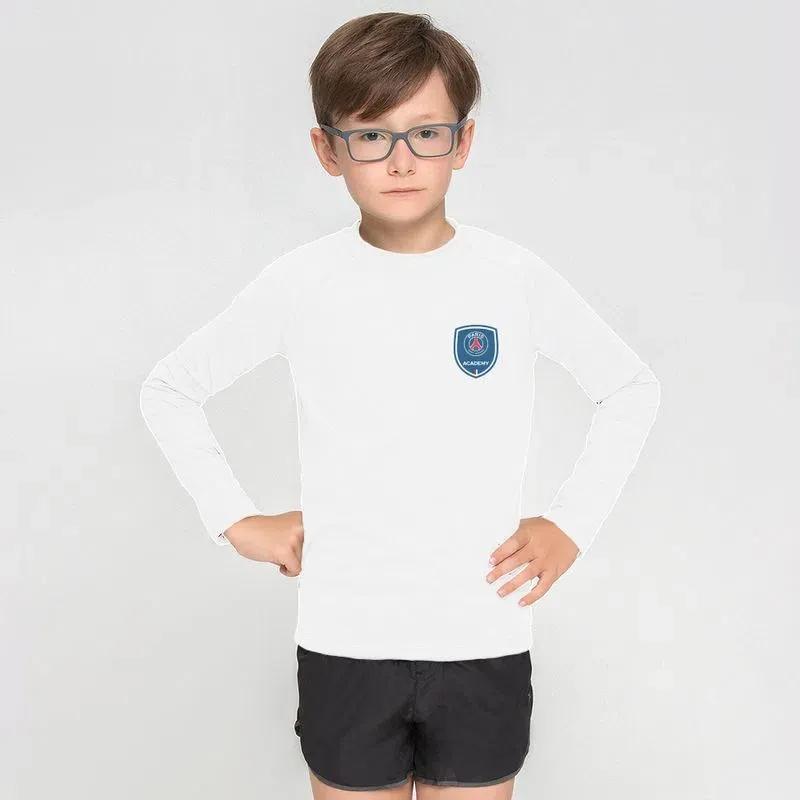 UV LINE Camiseta PARIS SAINT-GERMAIN Manga Longa Infantil Branco Proteção Solar