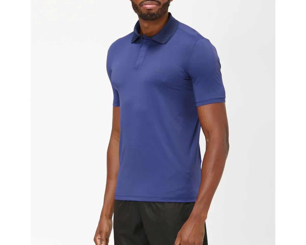 UV LINE Camiseta Polo Manga Curta Masculino Marinho Proteção Solar