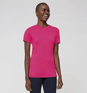 UV LINE Camiseta Sport Fit Manga Curta Feminino Cereja Proteção Solar