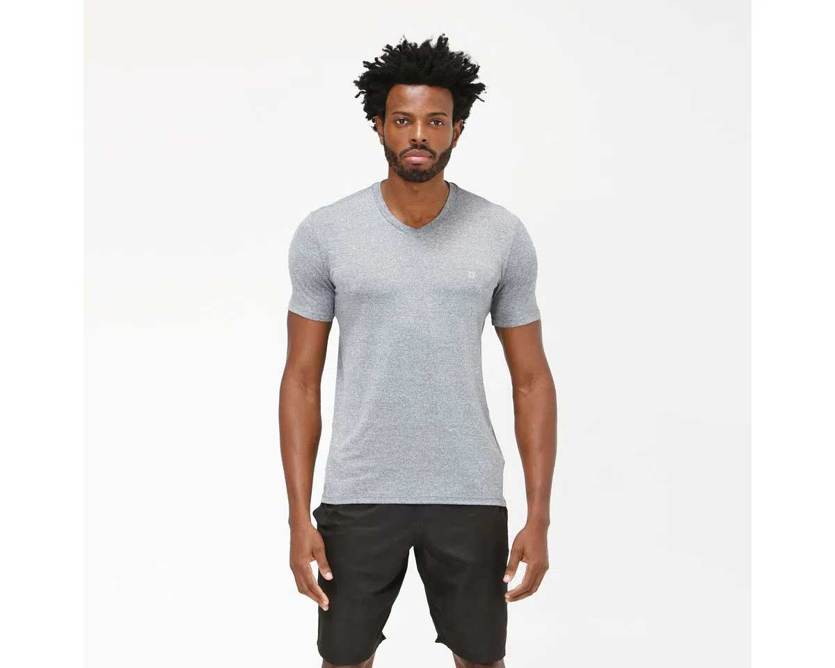 UV LINE Camiseta Sport Fit Mescla Manga Curta Masculino Mescla Proteção Solar