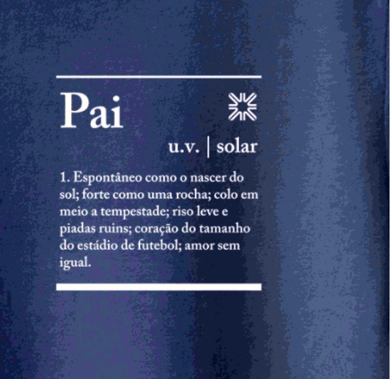 UV LINE Camiseta Sun Of My Life Pai Manga Curta Masculino Marinho Proteção Solar
