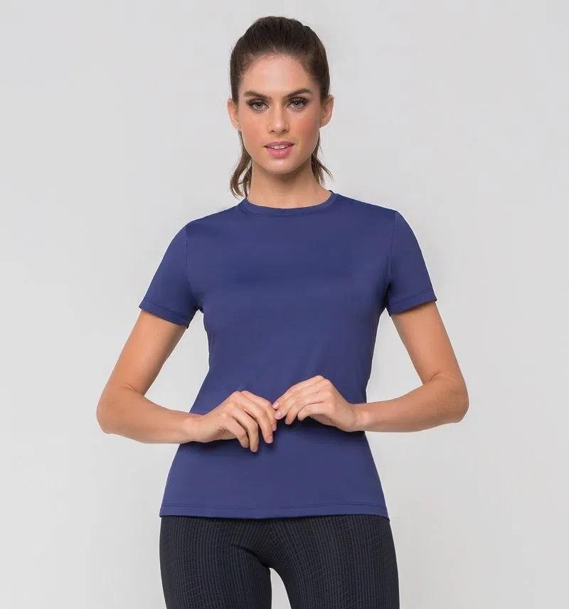 UV LINE Camiseta Uvpro Manga Curta Feminina Proteção Solar