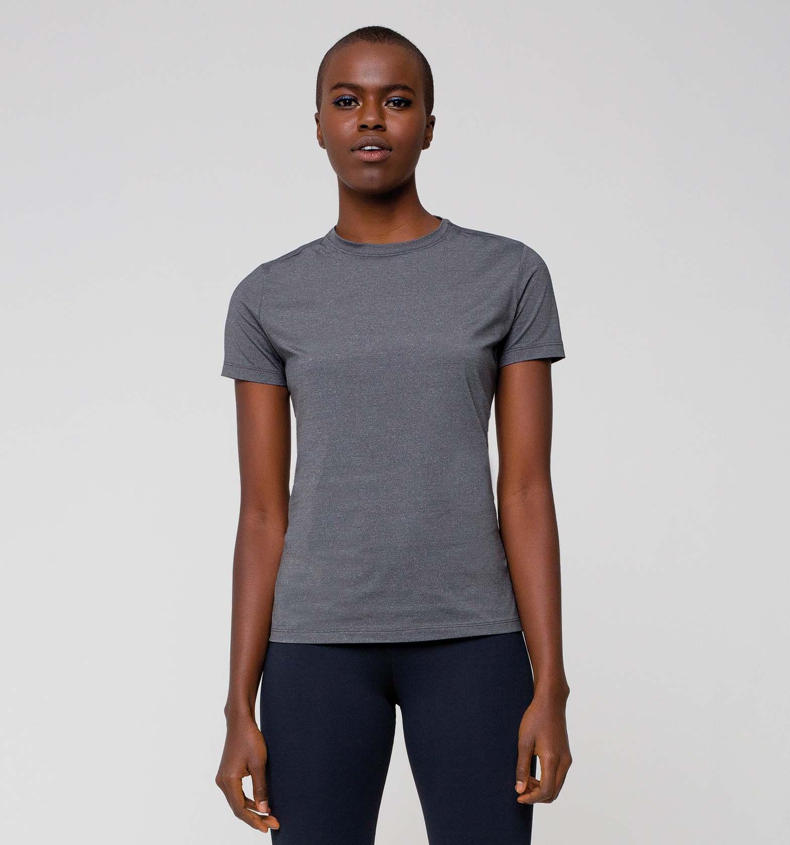UV LINE Camiseta Uvpro Manga Curta Feminino Mescla Proteção Solar