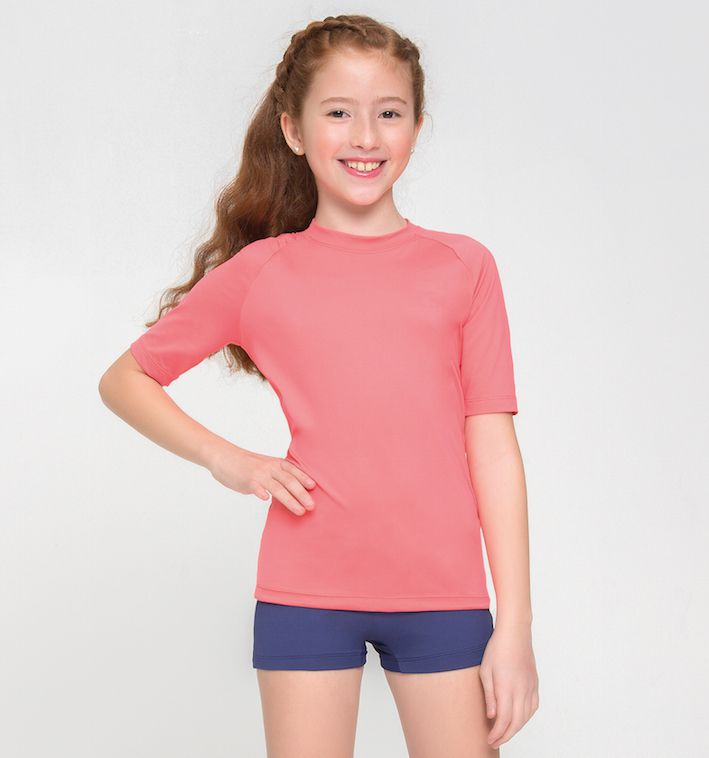 UV LINE Camiseta Uvpro Manga Curta Infantil Proteção Solar
