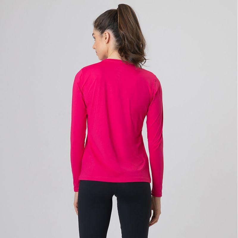 UV LINE Camiseta Uvpro Manga Longa Feminino Pink Proteção Solar